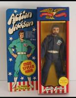 MEGO 1971 ACTION JACKSON Mod Styled Hair Figure MIB w/ tag and tattoos 1132