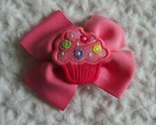 Gymboree Girls Pink Cupcake Bow Barrette 3T 4 5 6 7 8 9 RARE birthday