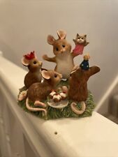 More details for merrie mice a5897 puppet show happy families collectable 10x8 cm border art