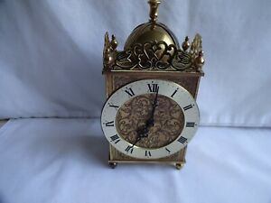 Beautiful Vintage Brass Junghans ATO-Electronic Lantern Clock, 1960`s 18 cm Tall