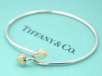 TIFFANY&Co Double Heart Bracelet 18K Gold & Silver 925 Bangle w/BOX
