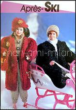 Vintage Knitting Pattern • MARINA & KEN DOLLS CLOTHES • APRES SKI OUTFITS COATS