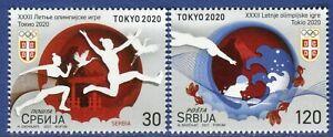 1638 - SERBIA 2021 - Summer Olympic Games - Tokyo 2020 - MNH Set