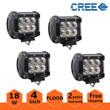 4pcs 4inch 18W CREE LED LIGHT BAR WORK FLOOD OFFROAD BOAT SUV UTE TRUCK LAMPS