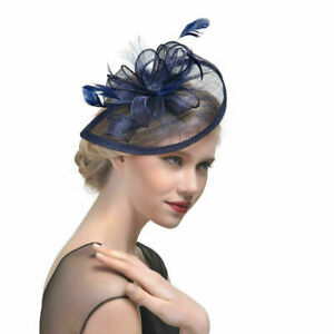 UK Women Headband Aliceband Hat Fascinator Weddings Ladies Day Royal Ascot Hat