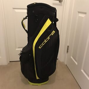 Cobra Ultralight Cart Bag + Hood. Excellent Condition.