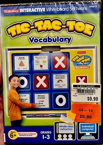 Tic Tac Toe Vocabulary Game - Interractive Whiteboard - Grades 1-3 (PC-MAC) NEW