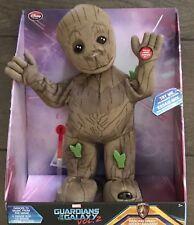 "NIB Disney Marvel Guardians of the Galaxy Vol. 2 Groot Dancing Plush 13"" Toy"