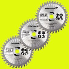 3x 85mm HM Kreissägeblatt Kreissägeblätter für Holz 85x10mm Z=36 Einhell Matrix