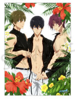 Iwatobi Swim Club Free! Road to the World High Grade Summer POSTER B2 Authentic
