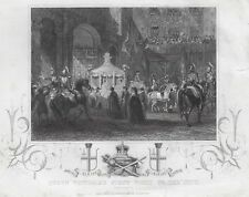 """Tallis' Print - """"QUEEN VICTORIA'S FIRST VISIT TO THE CITY"""" - Engraving - c1860"""