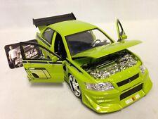 "Fast Furious Brian's Mitsubishi Lancer Evolution VII 8.5"" Diecast 1:24 Jada Toy"