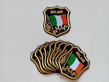 """10 IRELAND Flag in shield Embroidered Patches 3.25""""x2.75""""-"""