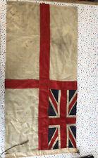 More details for vintage royal navy white english flag