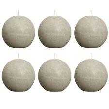 Bolsius Ball Rustic Candle Pebble Gray 80mm 6 Pcs Set