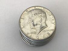 Lot of (7) 1965-1969 Kennedy half dollar 40% silver