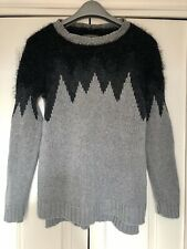 Oui, Luxury Edition, Chunky Knit With Fluffy Sleeves & Metallic Yarn, Size 14/40