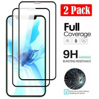 2X Full Cover Tempered Glass Screen Protector for Apple iPhone 12/mini/Pro/Max