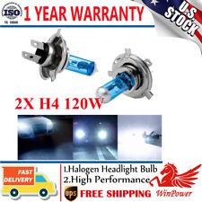 2x H4 Halogen Xenon Light Bulb 65W/60W Hi/Lo Headlight 4300K-5000K 12V US Stock
