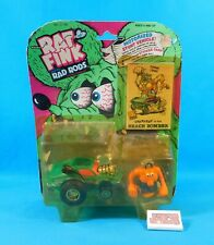 Vtg 1990 Gearhead in his Beach Bomber Figure & Vehicle Rat Fink Kenner New