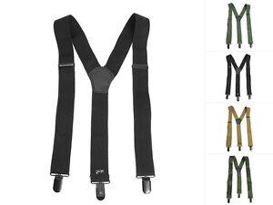 Mil-Tec Stretch-Hosenträger für Herren & Damen mit Clip Y-Form bis 120cm