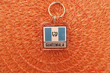 "Bandera Guatemala Flag Key Chain 2 Sided 1 1/2"" Plastic Key Chain Souvenir"