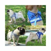 Mesh Reflective Dog Harness Vest Adjustable Pet Puppy Walking Train Lead Leash