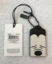 NWT Coach x Disney Squinting Mickey Mouse Hangtag Keychain & Dustbag 54099