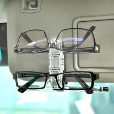 Dual Clip Pen Holder Sun Visor Glasses Sunglasses Eye Glasses Card Car Accessory
