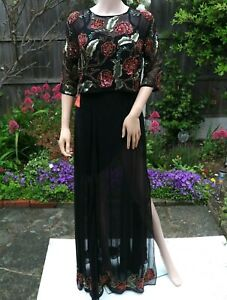BIG SALE CLEARANCE Frock And Frill Embellished Tiered Maxi Dress UK12 RR£140
