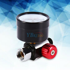 "1/4"" BSP Threads Mini Air Regulator Tail Pressure Gauge New For Spray Gun GLF"