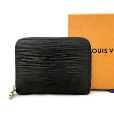 Louis Vuitton Epi Zippy Zip Black Leather Coin Purse Wallet /71078