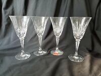Gorham Crystal Wine Glasses Serena Pattern Set of 4 Rare Beautiful Cuts
