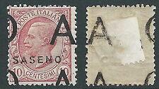 1923 SASENO EFFIGIE 10 CENT DEMONETIZZATO MH * - D1