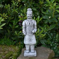 Massive Steinfigur Chinesischer Terrakotta Krieger mittel Motiv II aus Steinguss