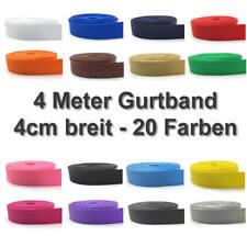 4 Meter Gurtband 40mm 4cm breit 20 Farben schwarz weiß rot grün gelb pink blau