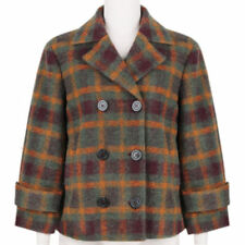 Polyester Peacoat Double Breasted Coats & Jackets for Women