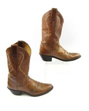 Ladies Justin Brown Leather Cowgirl Boots Size: 6.5 B