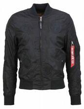 Alpha industria hombre chaqueta de verano ma-1 TT Parche II ALL BLACK