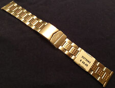New ZRC France 22mm Stainless Steel Bracelet Watch Band Deployment Buckle $49.95
