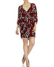 DVF DIANE VON FURSTENBERG Fleurette Silk Dress Floral Petals Poppy sz 6 NEW $398