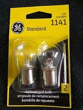 Two (2) GE 1141 Miniature Lamp Bulb replacement automotive 12 volt