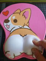KAWAII Corgi dog butt cute 3d mouse pad soft wrist rest - 3 day shipping - USA