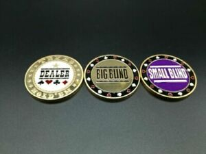 New Big Blind Small Blind and Dealer Button Poker buttons Texas hold'em buttons