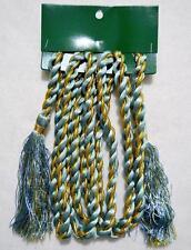 Lot/12 Blue & Gold Satin Rope Christmas Tree Garland W/Tassels~8' Ea~Sale