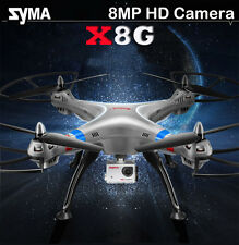 SYMA X8G 2.4GHZ 4CH 8MP HD Camera RC QUADCOPTER Drone Helicopter HD CAM