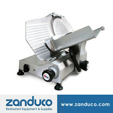 "Omcan Aluminum Meat Slicer with 12""/300mm Blade and 0.35 Hp Ms-It-300-U"