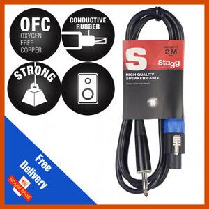 "Stagg 2m Speaker to 1/4"" Jack 6.46mm Lead / Cable Speakon to Jack Plugs"