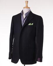 NWT $2795 SARTORIA PARTENOPEA Subtle Woven Black Wool Blazer 44 R Sport Coat