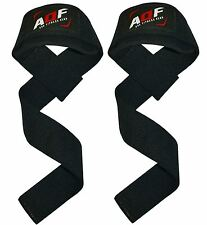 AQF Padded Weight Lifting Training Gym Straps Hand Bar Wrist Support Wrap New